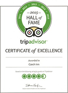 Czech Inn Tripadvisor Hall of Fame Award