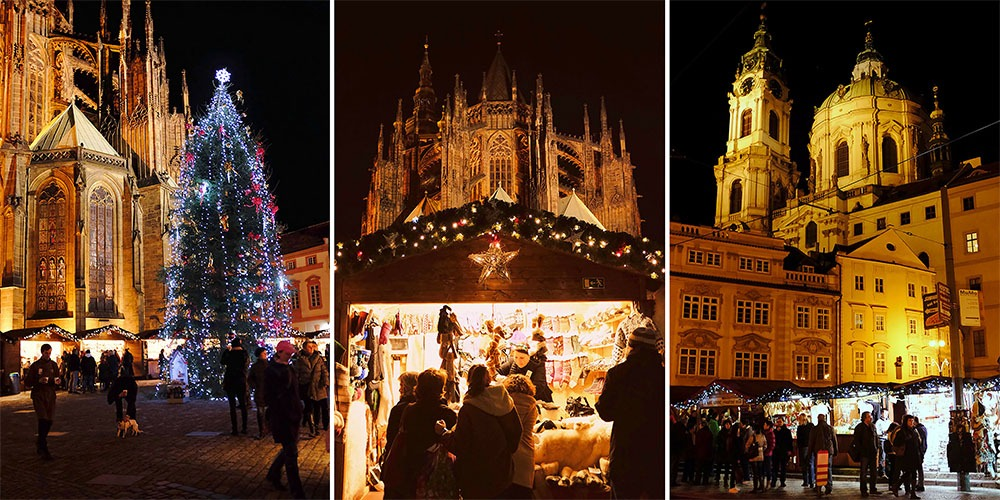 christmas markets prague castle