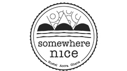 somewhere nice hostel accra ghana logo