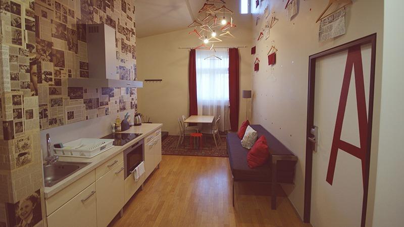 czech inn hostel prague premium dorm kitchen