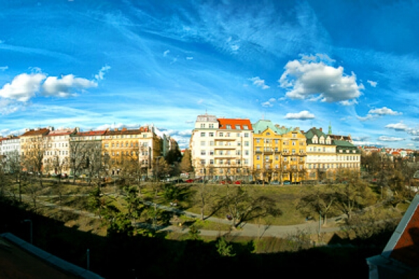 Panoramic view from the roof